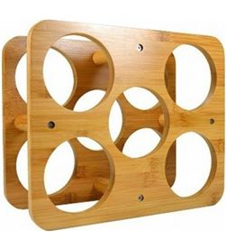 Todoelectro.es botellero de bambu jocca 3059 - para 5 botellas - JOC-PAE-BOT 3059
