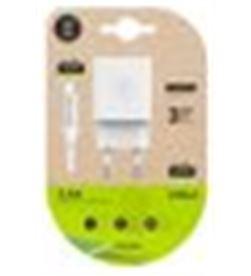 Tech A0029480 cargador doble + cable micro usb one tec2401 - A0029480