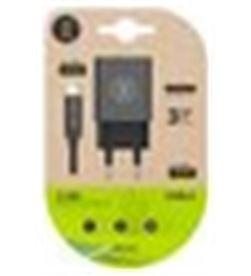 Tech A0029500 cargador doble + cable micro usb one negro tec2421 - A0029500