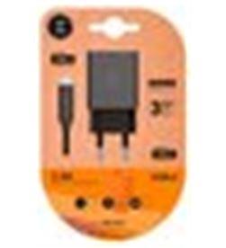 Tech A0030180 cargador doble + cable usb-c one negro tec2423 - A0030180