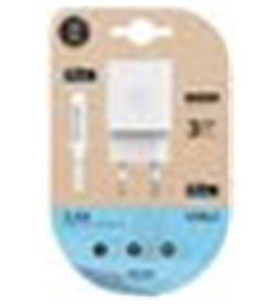 Tech A0029481 cargador doble+cable micro usb(apple) one tec2402 - A0029481