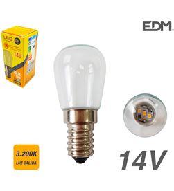 Bombilla pebetero led clara ''14v'' e14 1,5w 70 lm 3200k luz calida Edm 8425998989977 - 98997