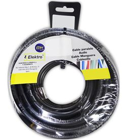 Edm carrete manguera plana negra 2x1mm 10mts (audio) 8425998280463 - 28046
