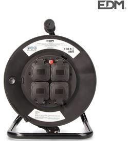 Edm enrollacables profesional con protector termico 3 x2,5mm 25mts 4 tomas con 8425998201352 - 20135