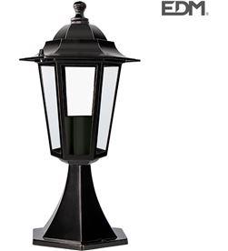 Farol aluminio sobremuro negro 38xø19,2cm Edm mod. zurich 8425998734140 - 73414