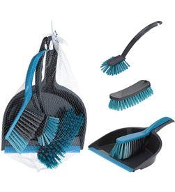 No set de limpieza de 4 piezas gris y turquesa 8719987413148 - 77061