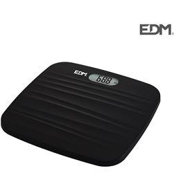 Bascula baño digital base rugosa negra max. 180kg Edm 8425998076035 - 07603