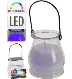 Citronella vela aromatica con led en vaso de cristal con asa 8719987028564 - 83180