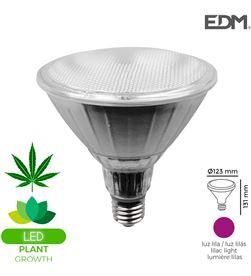 Edm bombilla grolux par38 led e27 13w 110 lm luz lila ideal para el crecimiento 8425998988697 - 98869
