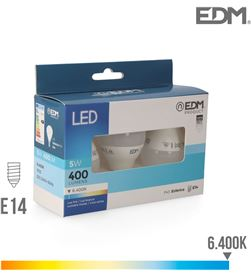 Kit 3 bombillas esfericas led e14 5w 400 lm 6400k luz fria Edm 8425998982022 - 98202