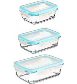 5 conjunto 3 fiambreras de cristal tamaños varios 360234487031 - 76915