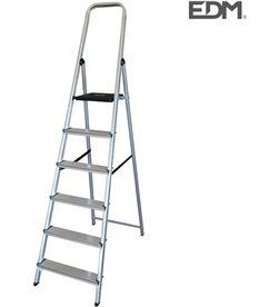 Escalera domestica aluminio 6 peldaños Edm 8425998750553 - 75055