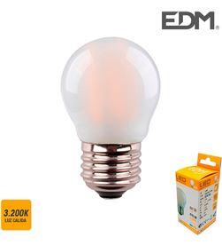 Edm bombilla esferica filamento led mate e27 4,5w 470 lm 3200k luz calida 8425998986334 - 98633