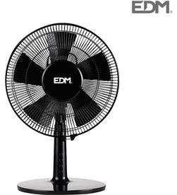 Edm ventilador sobremesa negro 40w ø aspas 30cm 8425998335026 - 33502