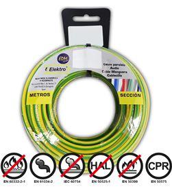 Edm carrete cablecillo flexible 1,5mm bicolor 50mts.libre-halogenos 8425998284287 - 28428