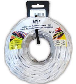 Edm paralelo textil trenzado 2x1mm blanco 5mts 8425998118858 - 11885