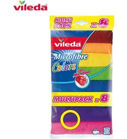 Vileda bayeta microfibra colors 8 166690 4023103185975 - 77608