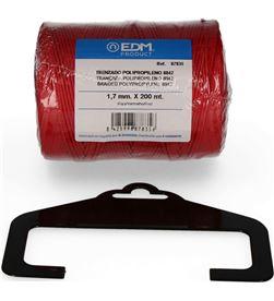 Edm bobina trenzada polipropileno 8842 200mts rojo 8425998878356 - 87835