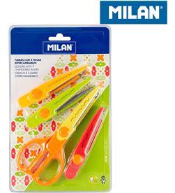 Blister tijeras zig-zag 4 hojas intercambiables Milan 8411574076384 - 64115