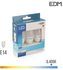 Kit 3 bombillas vela led e14 5w 400 lm 6400k luz fria Edm 8425998982053 - 98205