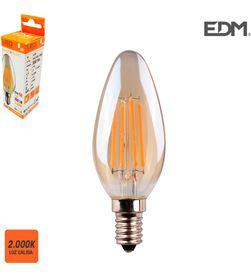 Edm bombilla vela filamento led cristal vintage e14 4,5w 350 lm 2000k luz calid 8425998986211 - 98621