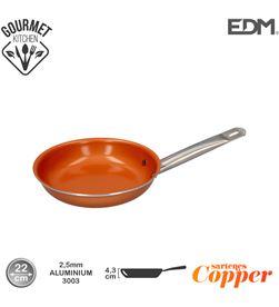 Edm sarten antiadherente - ''copper line'' - excilon tecnology - ø22cm - 8425998765953 - 76595