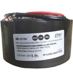 Edm transformador 300w ac12v ip65 para bombilla halogena piscina 8425998317367 - 31736
