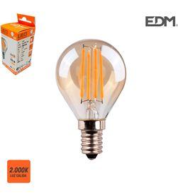 Edm bombilla esferica filamento led cristal vintage e14 4,5w 350 lm 2000k luz c 8425998986228 - 98622