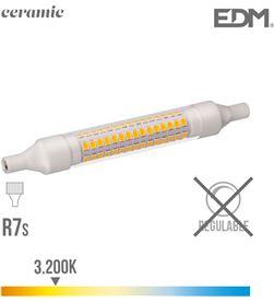 Edm bombilla lineal led 118 mm r7s 9w 1100 lm 3200k luz calida base ceramica ed 8425998989861 - 98986