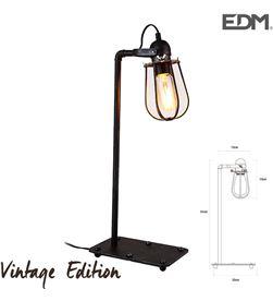 Edm lampara de mesa vintage e27 60w 51x22x13x13cm 8425998321074 - 32107