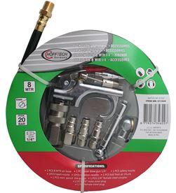 Hofftech manguera de aire 8mts max 20 bares incluye 10 accesorios 8719274346227 - 99973