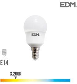 Edm bombilla esferica led e14 8.5w 940 lm 3200k luz calida 8425998987232 - 98723