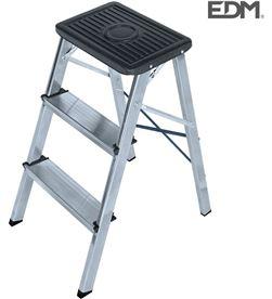 Edm taburete aluminio 3 peladaños segun une en 14183 8425998750515 - 75051