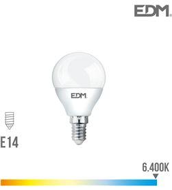 Bombilla esferica led e14 5w 400 lm 6400k luz fria Edm 8425998983227 - 98322