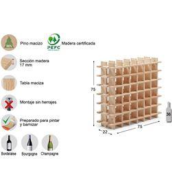 Botellero evolutivo rioja para 36 botellas pino macizo Astigarraga 8422341700074 - 75264