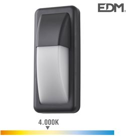 Edm aplique led 6w 200 lumens 4.000k luz dia ip65 rectangular vertical 8425998321531 - 32153