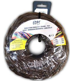 Edm paralelo textil trenzado 2x1,5mm marron 25mts 8425998119947 - 11994