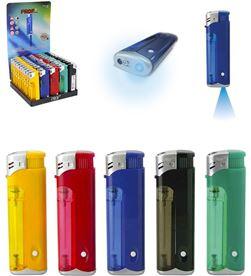 Polyflame encendedor twig piezo con luz colores surtidos recargable euro/u 3661075021887 - 08095