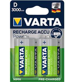 Varta pila recargable accu power d lr20 3000mah blister 2 4008496550777 - 38656