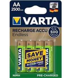 Varta pila recargable accu endless aa lr06 2500mah pack 4 uni 4008496928255 - 38634