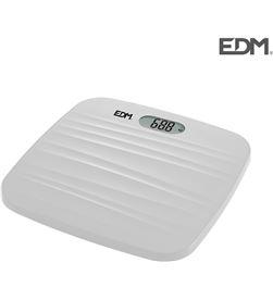 Bascula baño digital base rugosa blanca max. 180kg Edm 8425998076042 - 07604