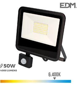 Edm foco proyector led 50w 4000 lm 6400k luz fria con sensor de presencia 8425998703573 - 70357