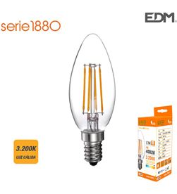 Bombilla vela filamento led e14 4w 400 lm 3200k luz calida Edm 8425998986204 - 98620