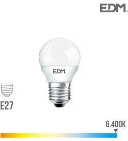 Bombilla esferica led e27 7w 600 lm 6400k luz fria Edm 8425998989465 - 98946