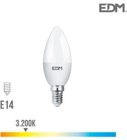 Edm bombilla vela led e14 7w 600 lm 3200k luz calida 8425998989519 - 98951