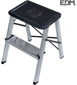 Edm taburete aluminio 2 peldaños segun une en 14183 8425998750508 - 75050