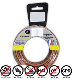 Edm carrete cablecillo flexible 2,5mm marron 10mts libre-halogenos 8425998284577 - 28457