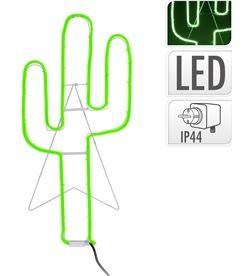 Decorative figura cactus flexiled neon verde 35x81cm ip44 8719202537772 - 71812