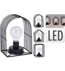 No lampara de metal decorativa vintage 8 leds 19cm 8719987143502 - 72049
