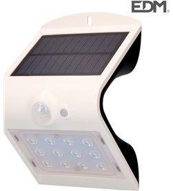 Edm aplique solar 1,5w 220 lumen recargable sensor de presencia (2-6m) color bl 8425998318418 - 31841